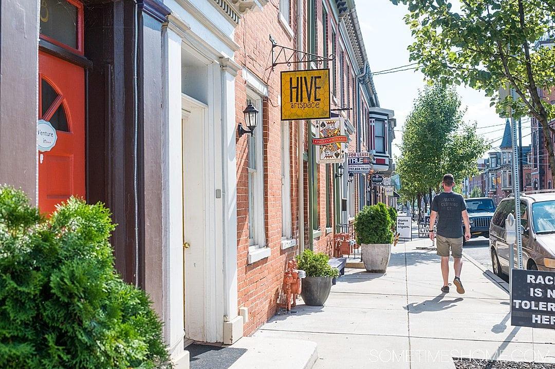 Street in downtown York, PA