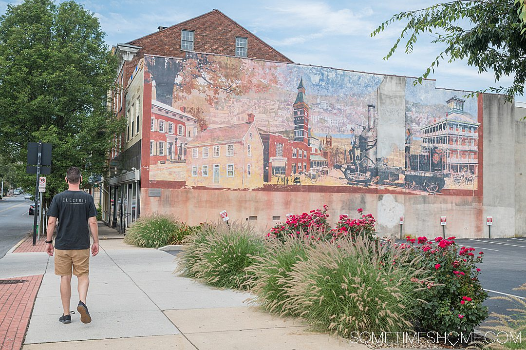 Mural of downtown York, in this central PA town.