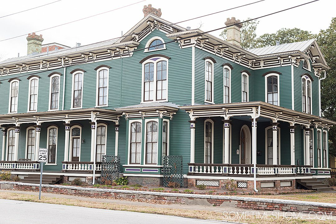 A historic home that is one of the best photography spots in downtown Goldsboro, NC