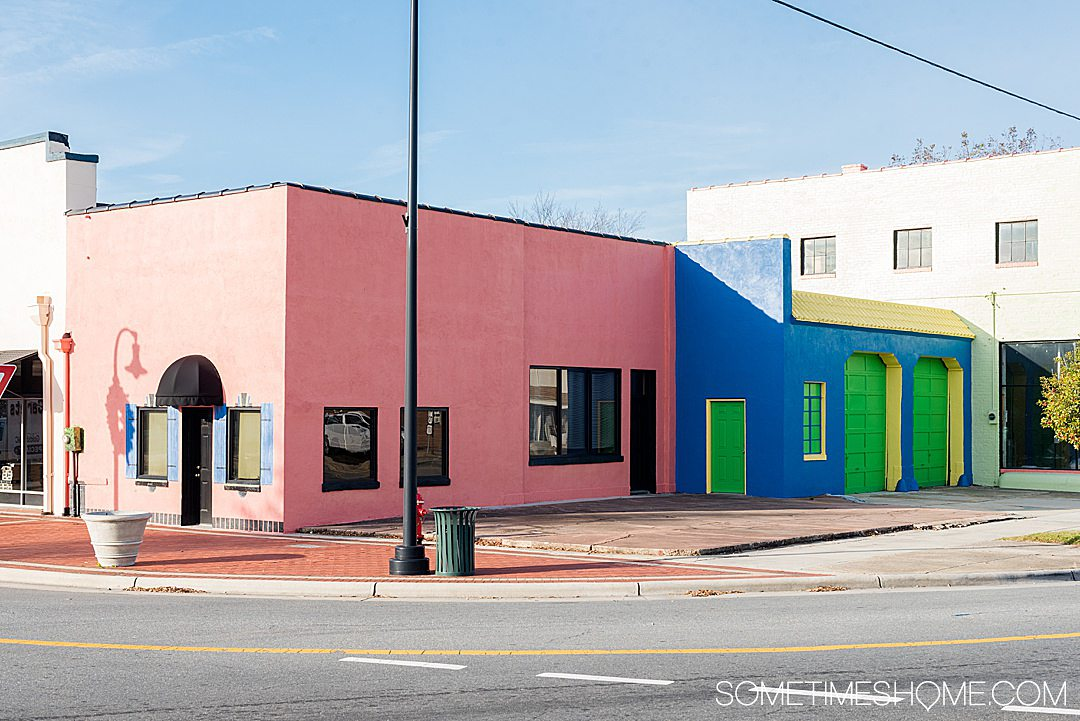 Colorful buildings for great photography spots in downtown Goldsboro, NC
