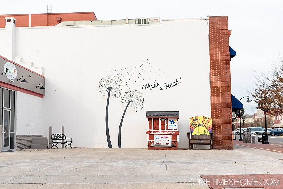 Dandelion mural in Goldsboro, NC