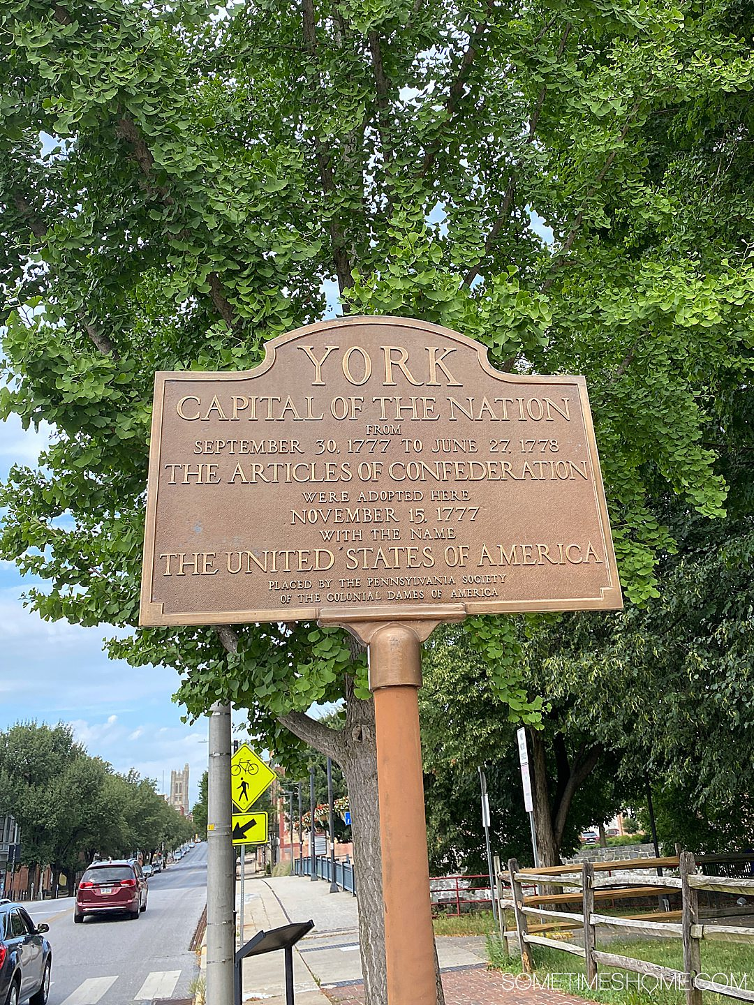 York historical sign