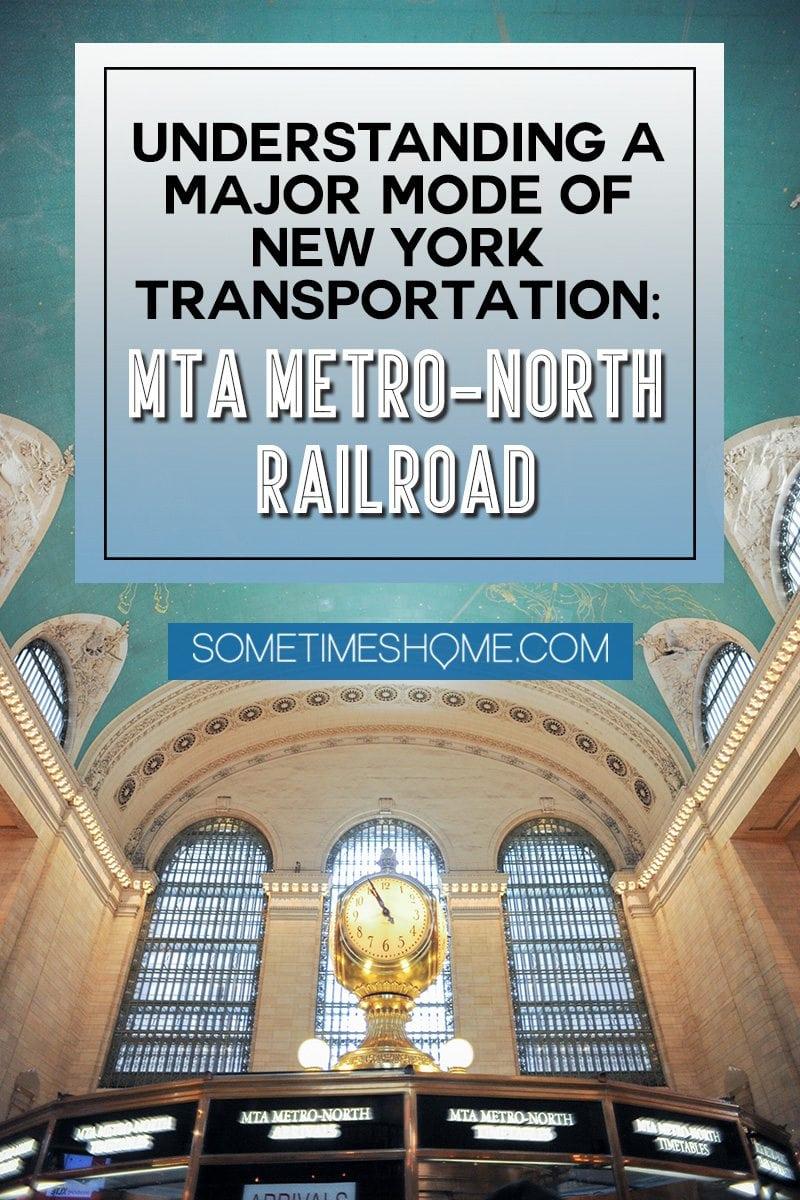 Pinterest graphic for understanding MTA Metro-North Railroads