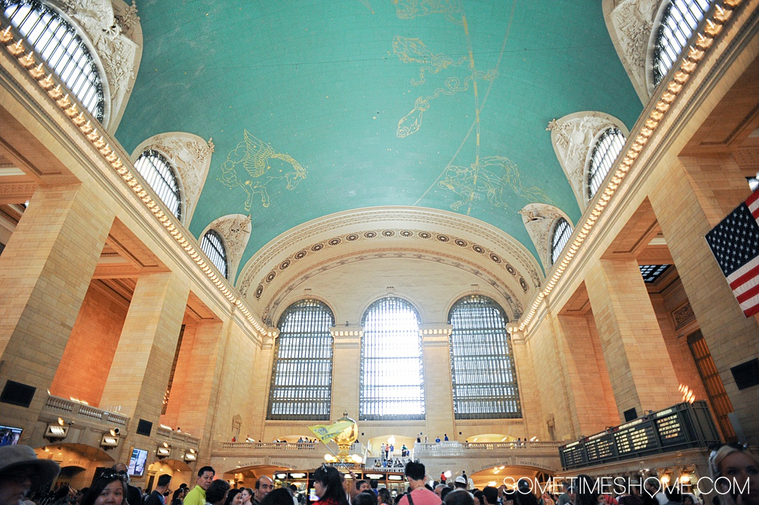 Grand Central Terminal's Tiffany blue ceiling