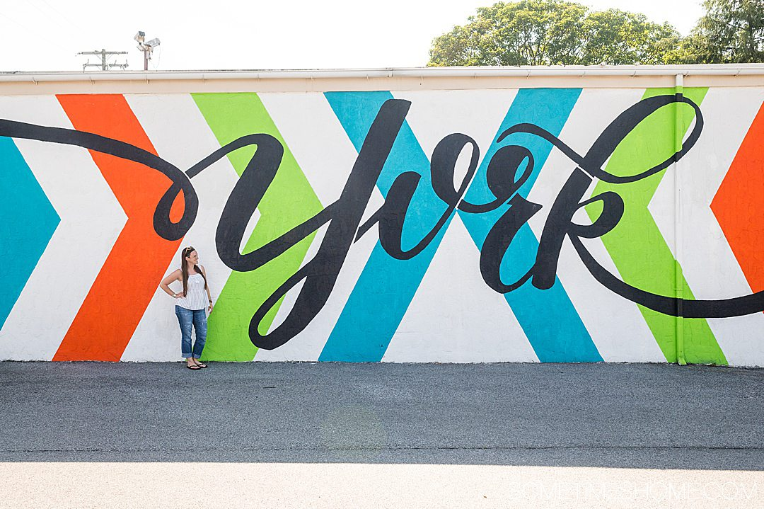 York mural with orange, green and blue lines in Pennsylvania