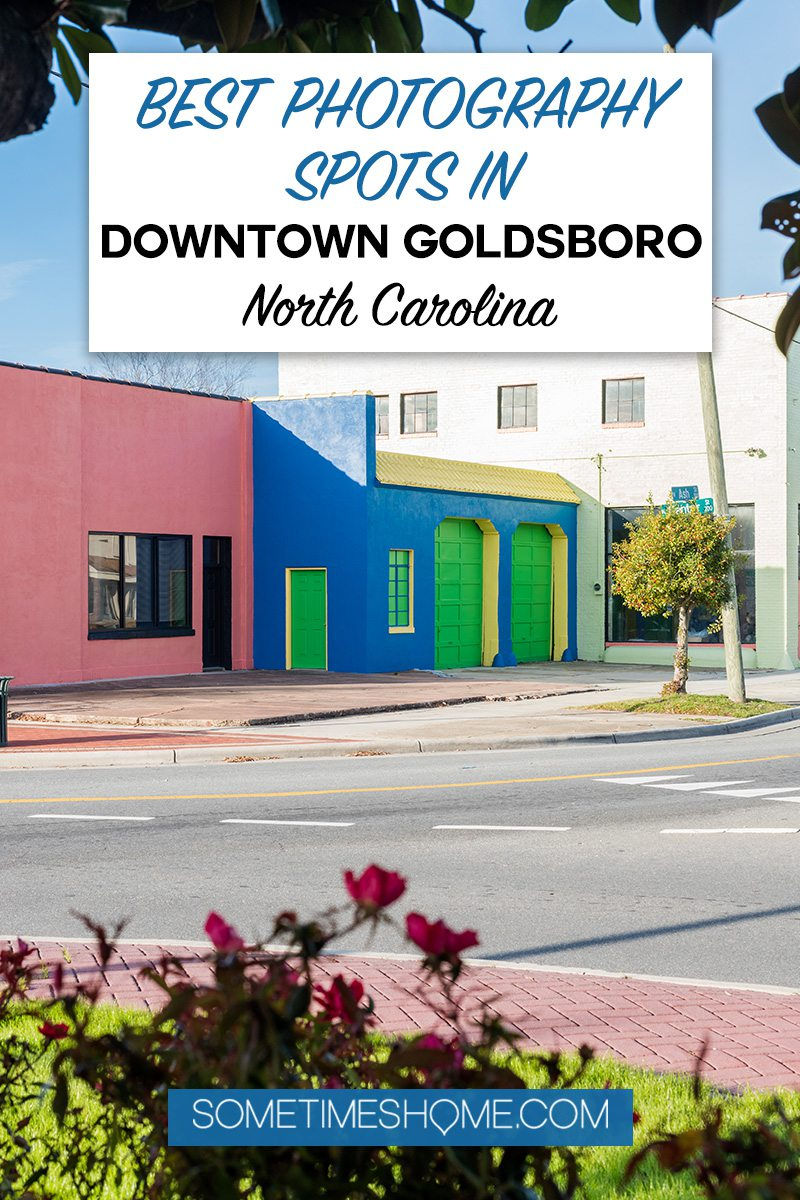 Pinterest graphic for photos spots in Goldsboro NC