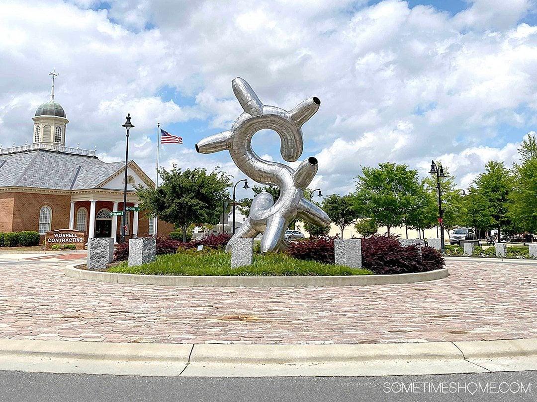 Sculpture in a turnaround on N. Center Street in Goldsboro, NC