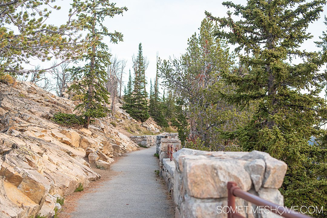 A vista scenic rest area on Beartooth Highway in Montana and Wyoming.