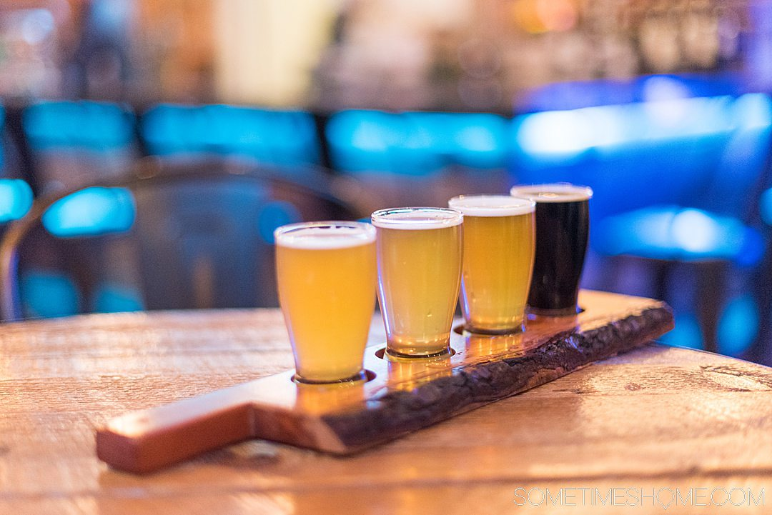 Flight of beer at Goldsboro Brew Works