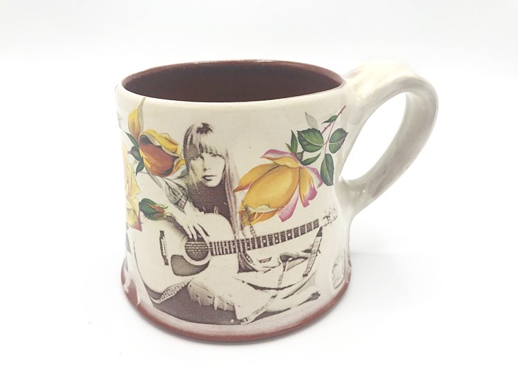 Joni Mitchel mug handmade in Seagrove, NC by Dean and Martin Pottery