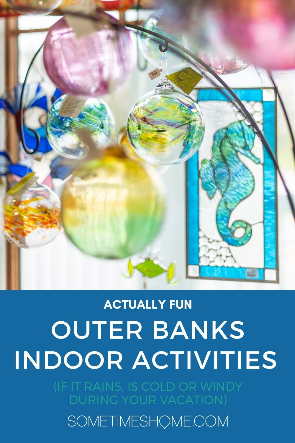Pinterest image for Actually fun Outer Banks Indoor Activities in NC if it rains, is windy or cold during your vacation.