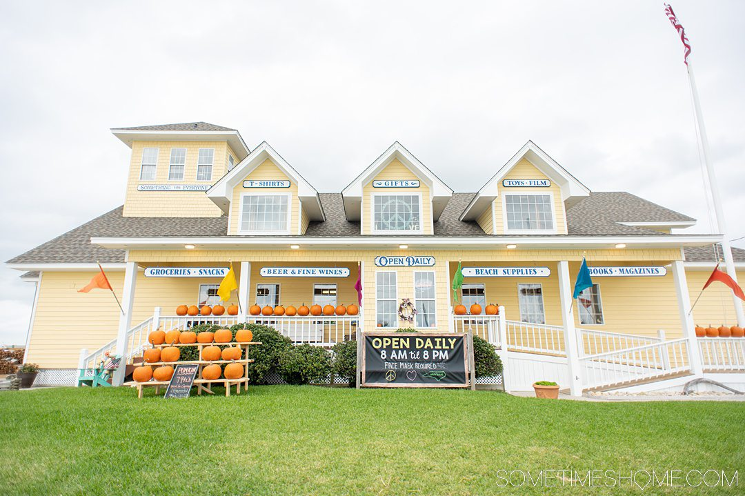 Image of a yellow house that's Lee Robinson's General Store for great things to do in the Outer Banks of North Carolina.