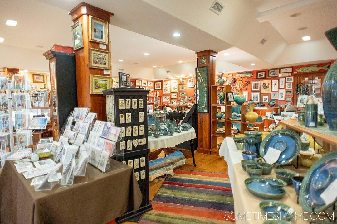 Outer banks indoor activities including the SeaWorthy art gallery in Hatteras.
