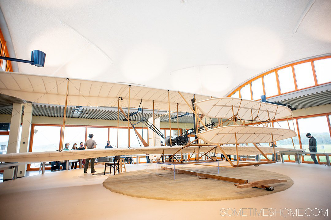 A replica of the 1903 Wright Brothers flyer near Kitty Hawk in Kill Devil Hills in the Outer Banks.