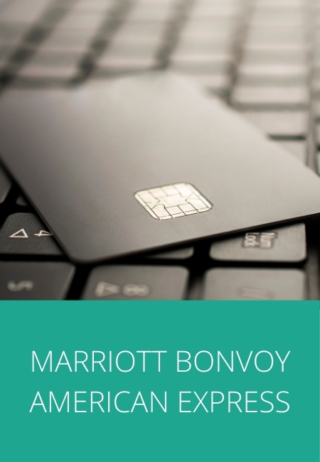 Black credit card photo with the words Marriott Bonvoy American Express.