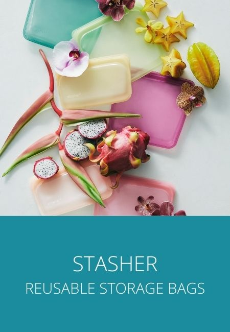 Stasher reusable storage bags.