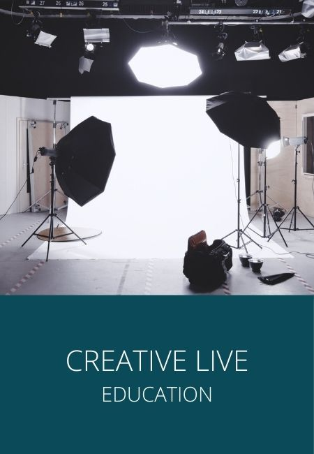 Creative Live image with a studio lighting set up.