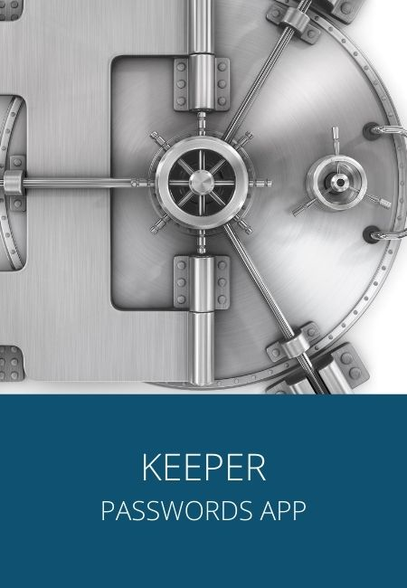 Keeper app with a photo of a silver safe.