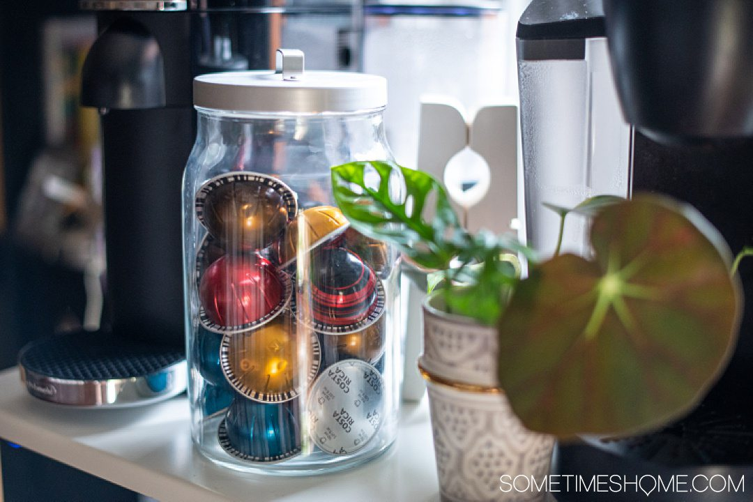 Recyclable aluminum coffee pods from Nespresso, to help cut down on plastic. It's one of the things to use instead of plastic pods to help save the Earth.