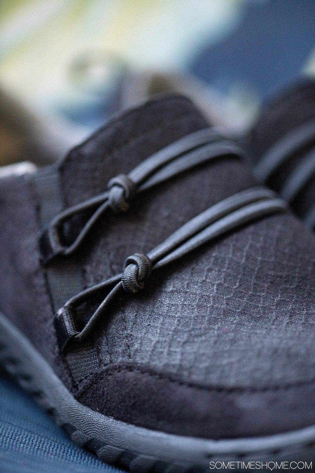 Detail of Jambu & Co. Ashton shoes, black flat women's style.