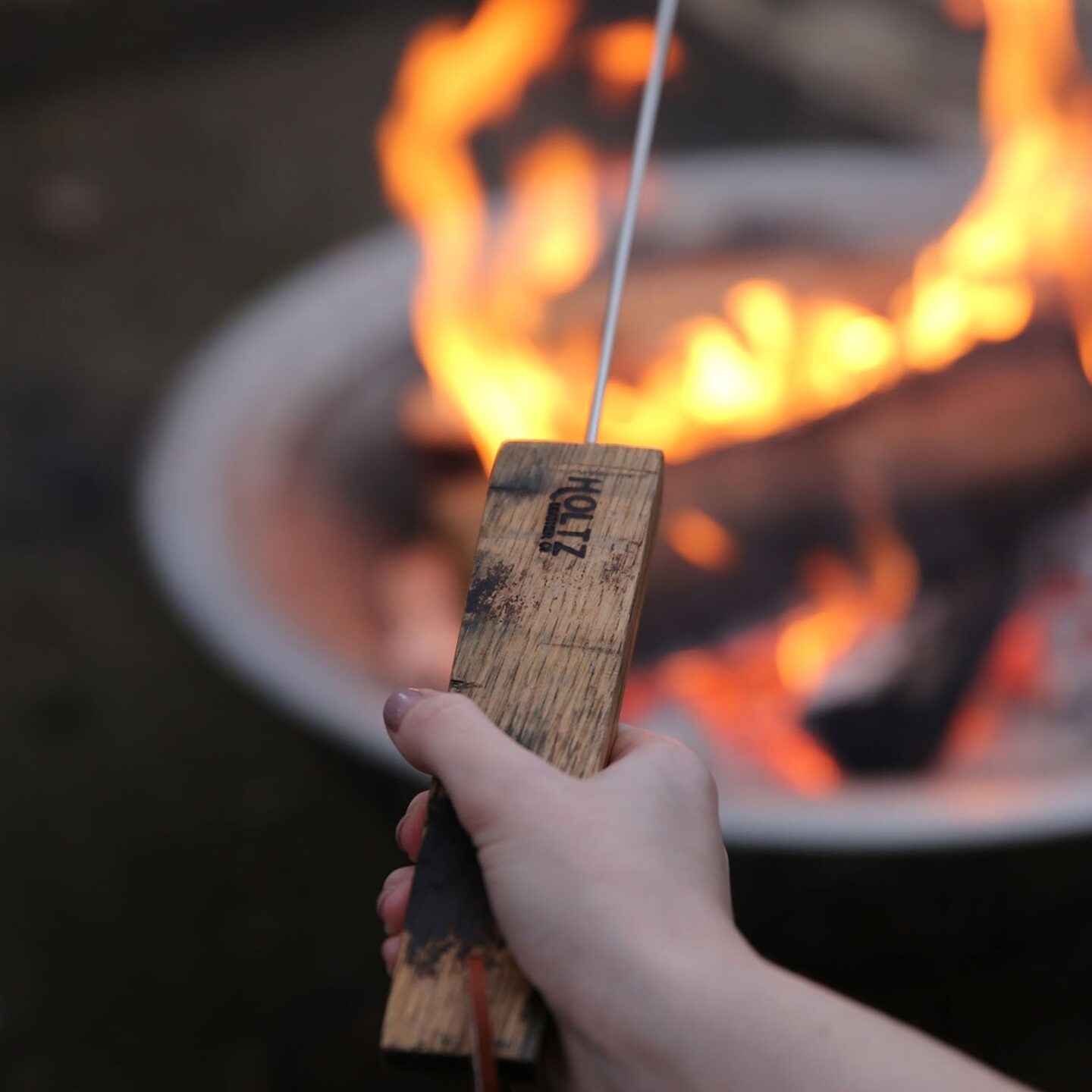 Custom bonfire s'mores sticks for practical house warming gift suggestions.