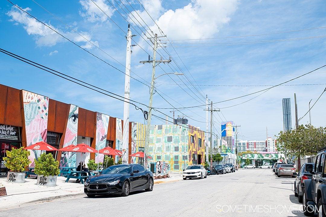 Street in Wynwood, Miami, known for its street art.