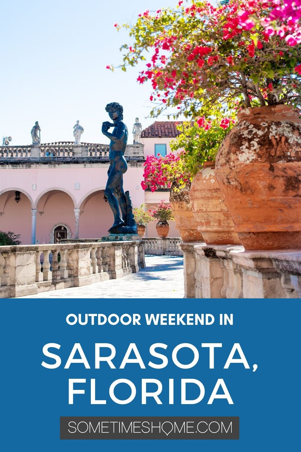 Outdoor weekend in Sarasota, Florida, including an image at the Art Gallery at The Ringling Museum.
