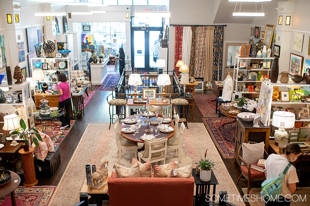 Picture of the inside of an artists store in downtown Rock Hill, South Carolina.