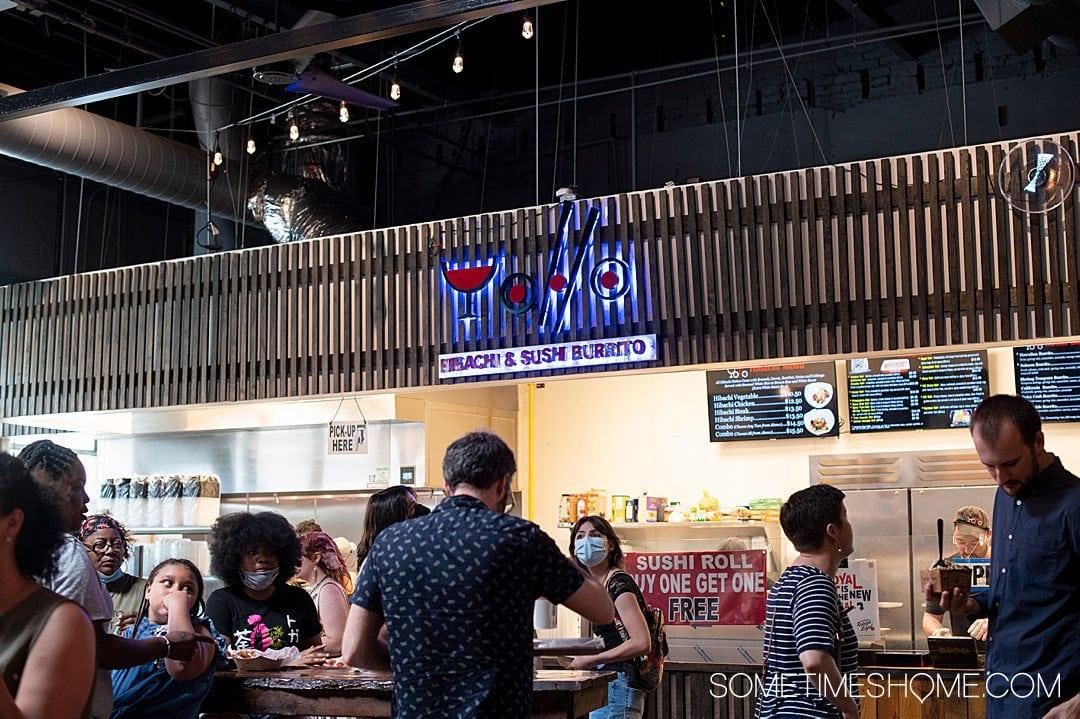 Morgan Street Food Hall in Raleigh, NC. A vendor inside the venue.